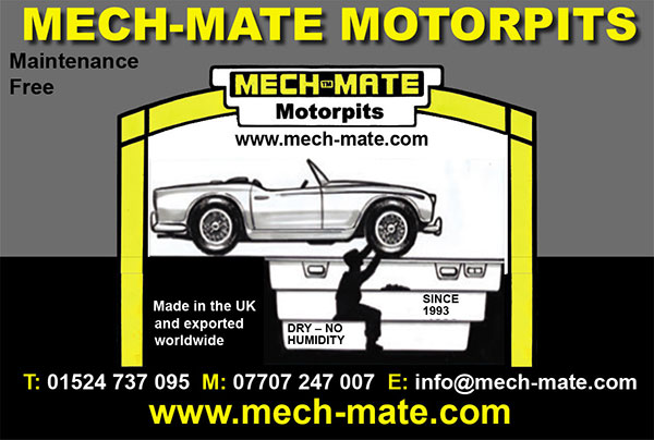 Mech-Mate Motorpits - moulded motor car I nspection pits, heavy duty polyester resin moulding