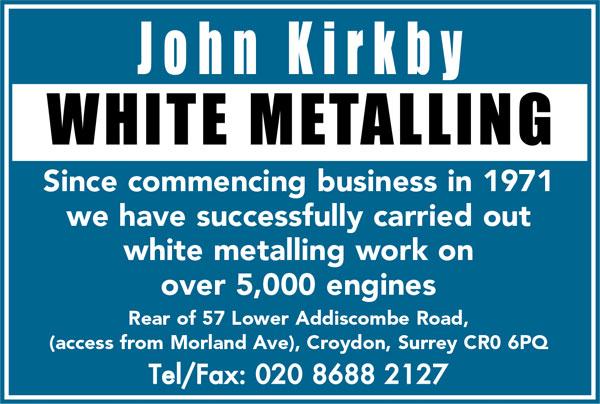 John Kirkby White Metalling - White metalling Automobile engineers
