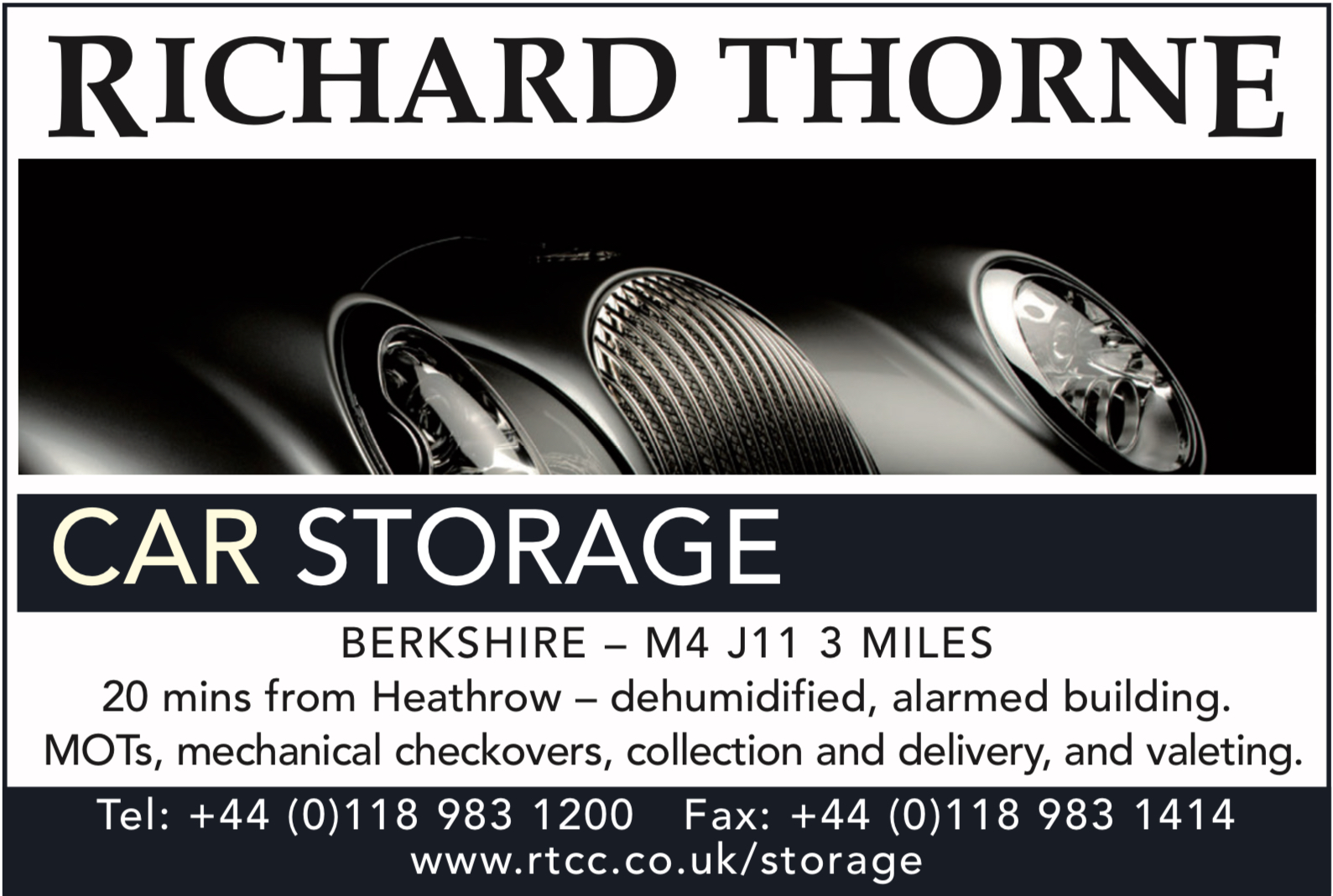 Richard Thorne - Classic car storage