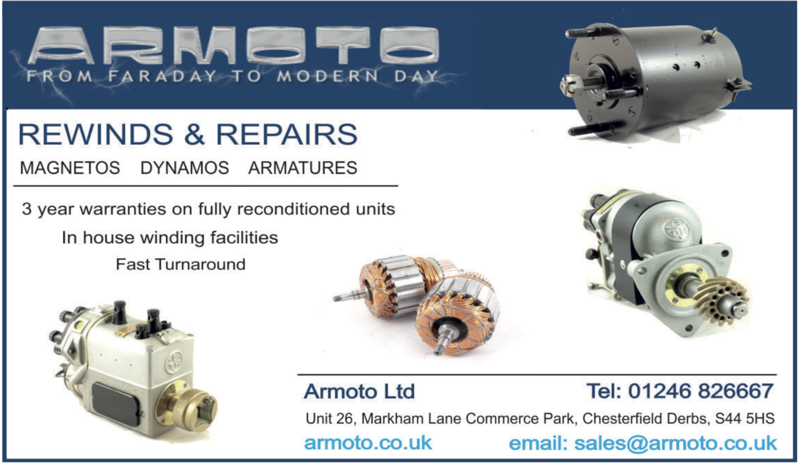 Rewinds: Armatures, Alternators, Magnetos and Coil Winding