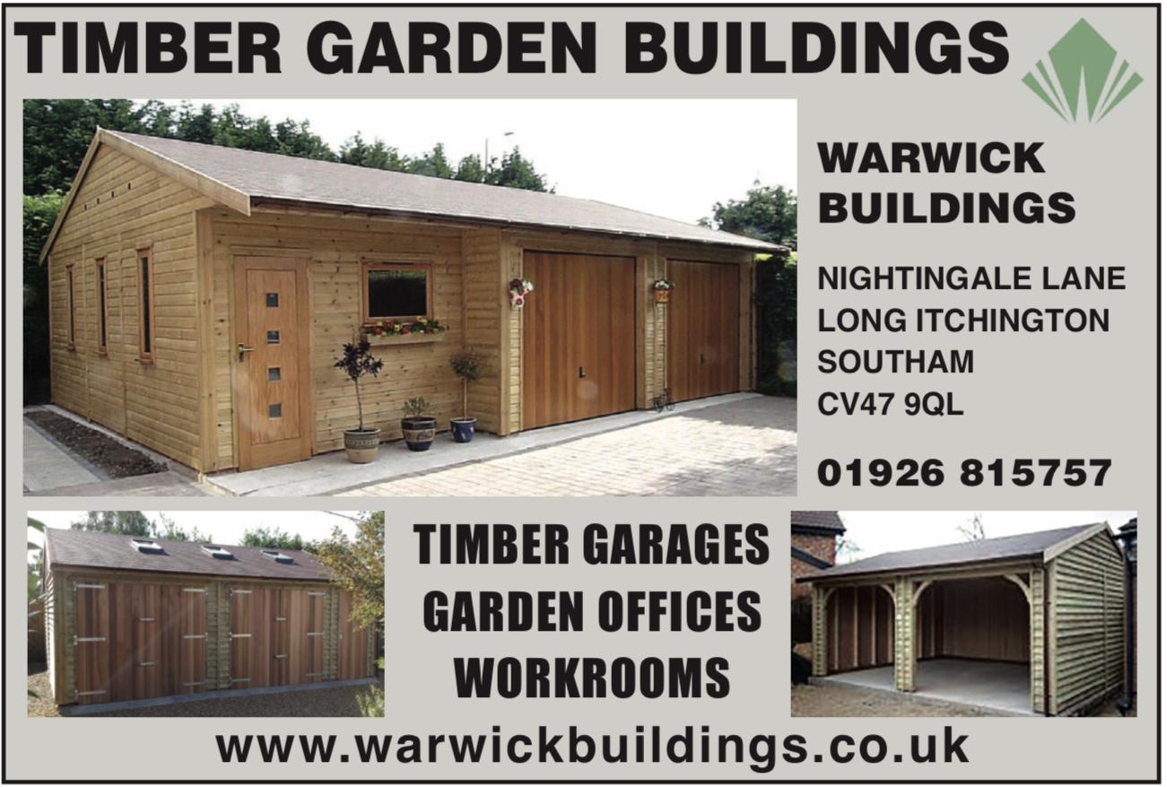 Warwick Buildings - Timber Garages, garden offices, workroom workshops buildings