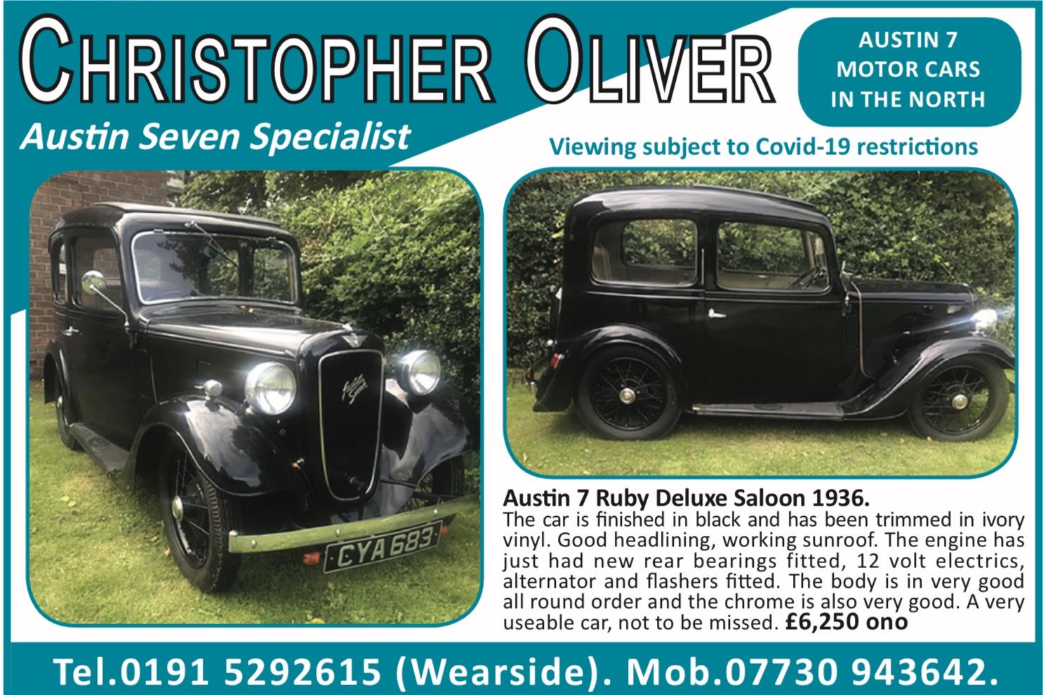 Christopher Oliver - Austin 7 Specialist, post-vintage classic cars