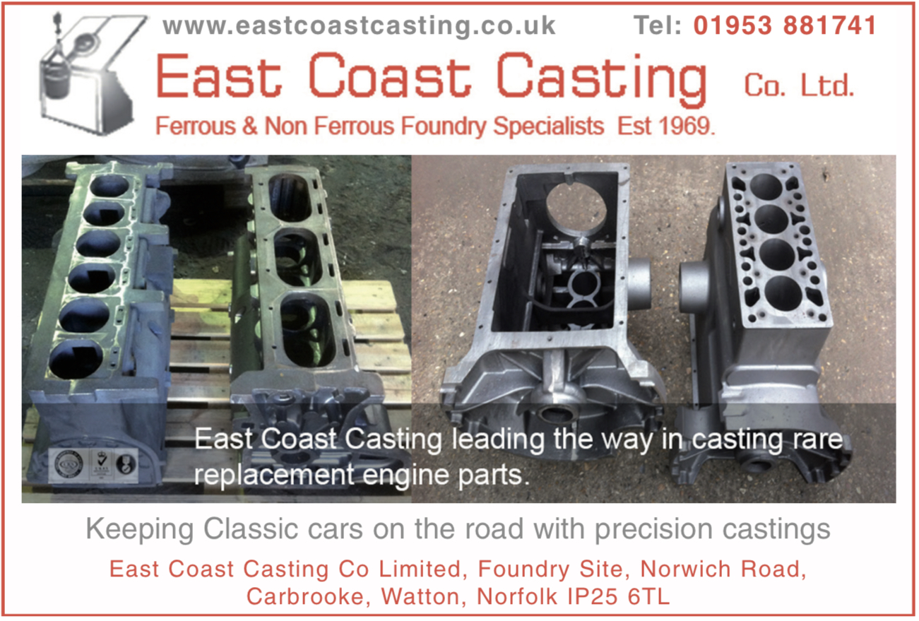 Casting rare replacement engine parts