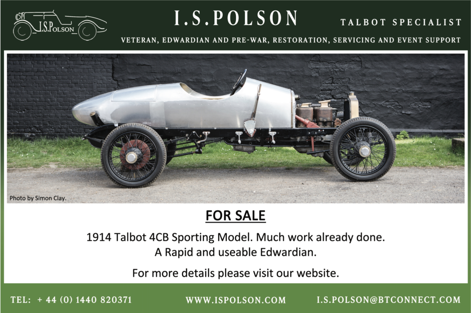 Talbot Cars Specialist - Veteran Edwardian pre-war car auto specialists, servicing, restoration, event support,