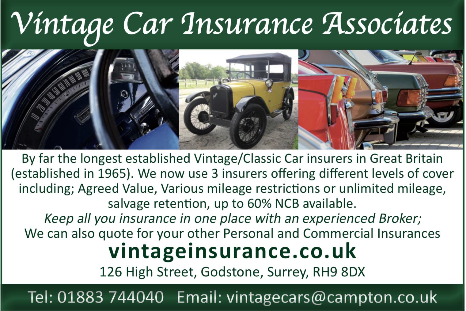 Vintage Car Insurance Associates  - Vintage & Classic Car insurance broker