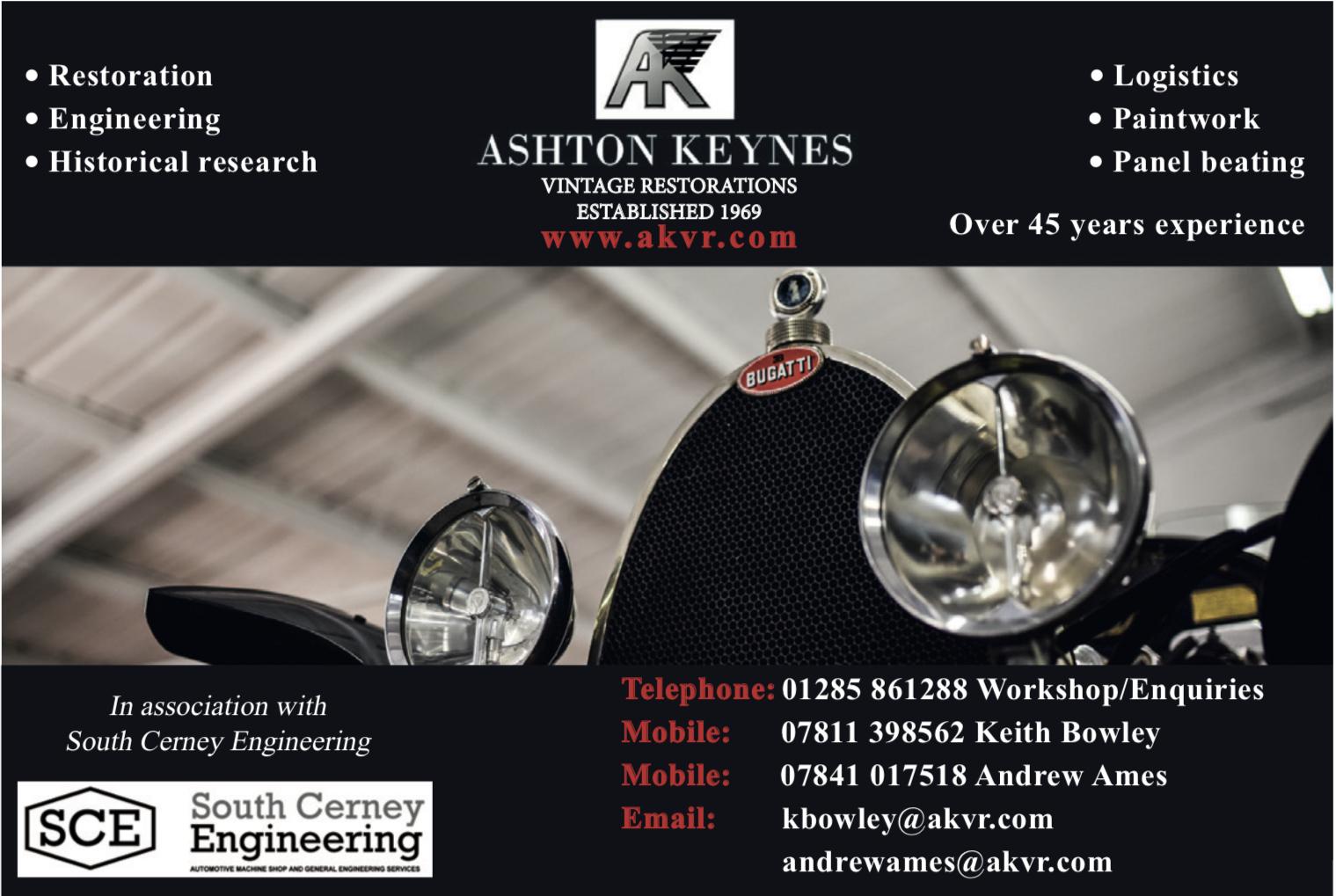 Ashton Keynes Vintage Restorations - Classic cars and Vintage Restorations engineering and historical research