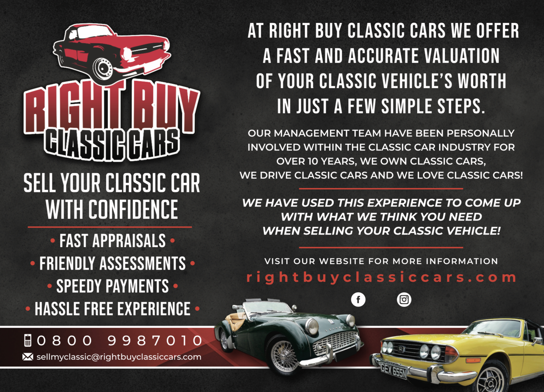 Right Buy Classic Cars - Valuation appraisal buyer